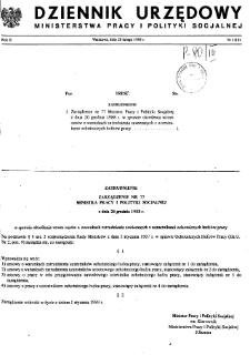Dziennik Urzędowy Ministerstwa Pracy i Polityki Socjalnej : 1989, nr 1