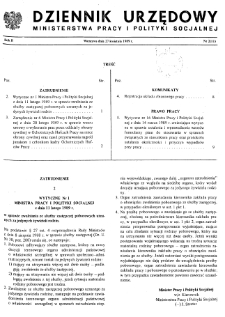 Dziennik Urzędowy Ministerstwa Pracy i Polityki Socjalnej : 1989, nr 2
