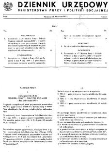 Dziennik Urzędowy Ministerstwa Pracy i Polityki Socjalnej : 1989, nr 3