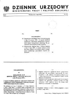 Dziennik Urzędowy Ministerstwa Pracy i Polityki Socjalnej : 1989, nr 4