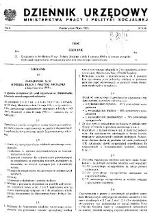 Dziennik Urzędowy Ministerstwa Pracy i Polityki Socjalnej : 1989, nr 5