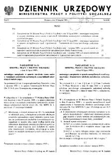 Dziennik Urzędowy Ministerstwa Pracy i Polityki Socjalnej : 1989, nr 6