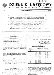 Dziennik Urzędowy Ministerstwa Pracy i Polityki Socjalnej : 1989, nr 9