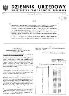 Dziennik Urzędowy Ministerstwa Pracy i Polityki Socjalnej : 1990, nr 1