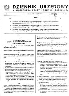 Dziennik Urzędowy Ministerstwa Pracy i Polityki Socjalnej : 1990, nr 3