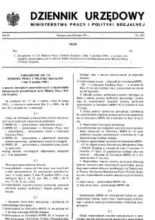 Dziennik Urzędowy Ministerstwa Pracy i Polityki Socjalnej : 1991, nr 1