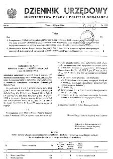 Dziennik Urzędowy Ministerstwa Pracy i Polityki Socjalnej : 1991, nr 3