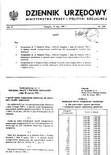 Dziennik Urzędowy Ministerstwa Pracy i Polityki Socjalnej : 1992, nr 3