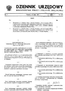 Dziennik Urzędowy Ministerstwa Pracy i Polityki Socjalnej : 1993, nr 1