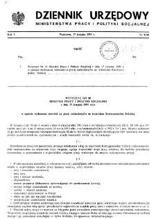 Dziennik Urzędowy Ministerstwa Pracy i Polityki Socjalnej : 1993, nr 4
