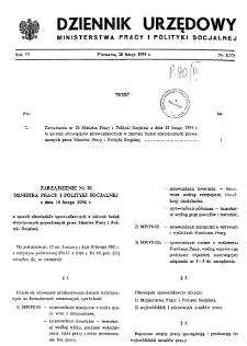 Dziennik Urzędowy Ministerstwa Pracy i Polityki Socjalnej : 1994, nr 2