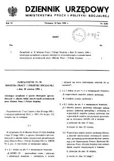 Dziennik Urzędowy Ministerstwa Pracy i Polityki Socjalnej : 1994, nr 3