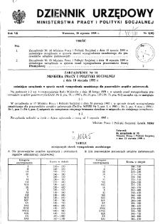 Dziennik Urzędowy Ministerstwa Pracy i Polityki Socjalnej : 1995, nr 1