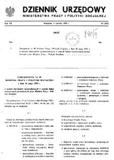 Dziennik Urzędowy Ministerstwa Pracy i Polityki Socjalnej : 1995, nr 2