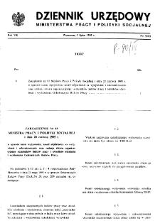 Dziennik Urzędowy Ministerstwa Pracy i Polityki Socjalnej : 1995, nr 3