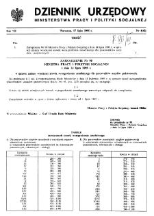 Dziennik Urzędowy Ministerstwa Pracy i Polityki Socjalnej : 1995, nr 4