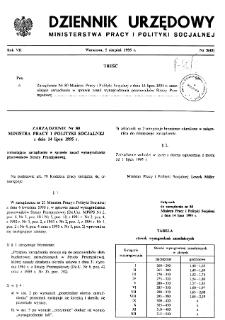 Dziennik Urzędowy Ministerstwa Pracy i Polityki Socjalnej : 1995, nr 5