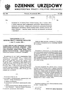 Dziennik Urzędowy Ministerstwa Pracy i Polityki Socjalnej : 1996, nr 1