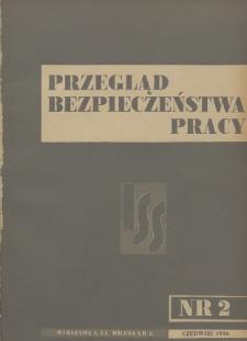 Przegląd Bezpieczeństwa Pracy : 1936, nr 2