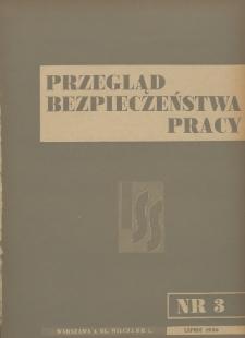Przegląd Bezpieczeństwa Pracy : 1936, nr 3