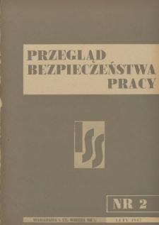 Przegląd Bezpieczeństwa Pracy : 1937, nr 2