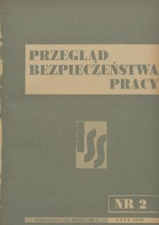 Przegląd Bezpieczeństwa Pracy : 1939, nr 2