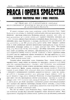 Praca i Opieka Społeczna : 1922, nr 2