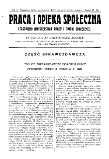 Praca i Opieka Społeczna : 1922, nr 3-4