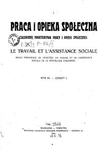 Praca i Opieka Społeczna : 1923, nr 1