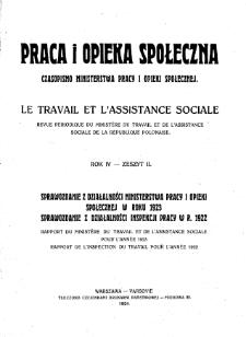 Praca i Opieka Społeczna : 1924, nr 2