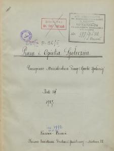 Praca i Opieka Społeczna : 1927, nr 1