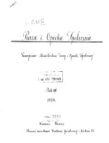 Praca i Opieka Społeczna : 1928, nr 1