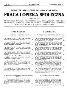 Praca i Opieka Społeczna : 1930, dodatek nr 6
