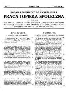 Praca i Opieka Społeczna : 1931, dodatek nr 2