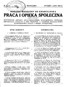 Praca i Opieka Społeczna : 1932, dodatek nr 1-2