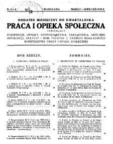 Praca i Opieka Społeczna : 1932, dodatek nr 2-3