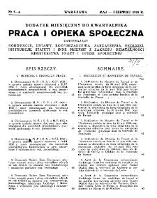 Praca i Opieka Społeczna : 1932, dodatek nr 5-6