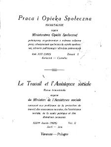 Praca i Opieka Społeczna : 1933, nr 2