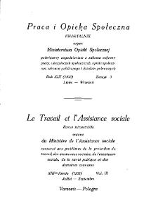 Praca i Opieka Społeczna : 1933, nr 3