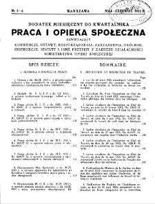 Praca i Opieka Społeczna : 1933, dodatek nr 5-6