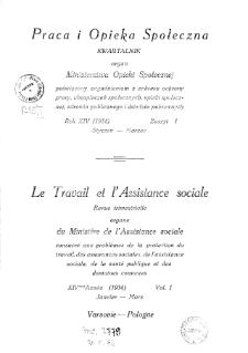 Praca i Opieka Społeczna : 1934, nr 1