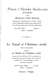 Praca i Opieka Społeczna : 1934, nr 3