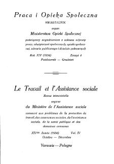 Praca i Opieka Społeczna : 1934, nr 4