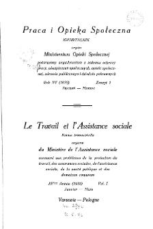 Praca i Opieka Społeczna : 1935, nr 1