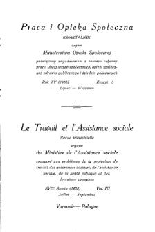 Praca i Opieka Społeczna : 1935, nr 3