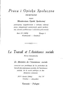 Praca i Opieka Społeczna : 1935, nr 4