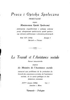 Praca i Opieka Społeczna : 1936, nr 1