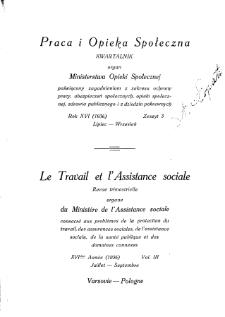 Praca i Opieka Społeczna : 1936, nr 3