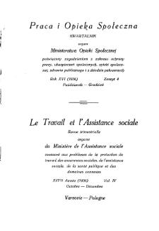 Praca i Opieka Społeczna : 1936, nr 4