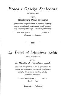 Praca i Opieka Społeczna : 1937, nr 2